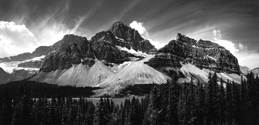 Banff Photograph - Crowfoot Mountain And Bow Lake by Cale Best