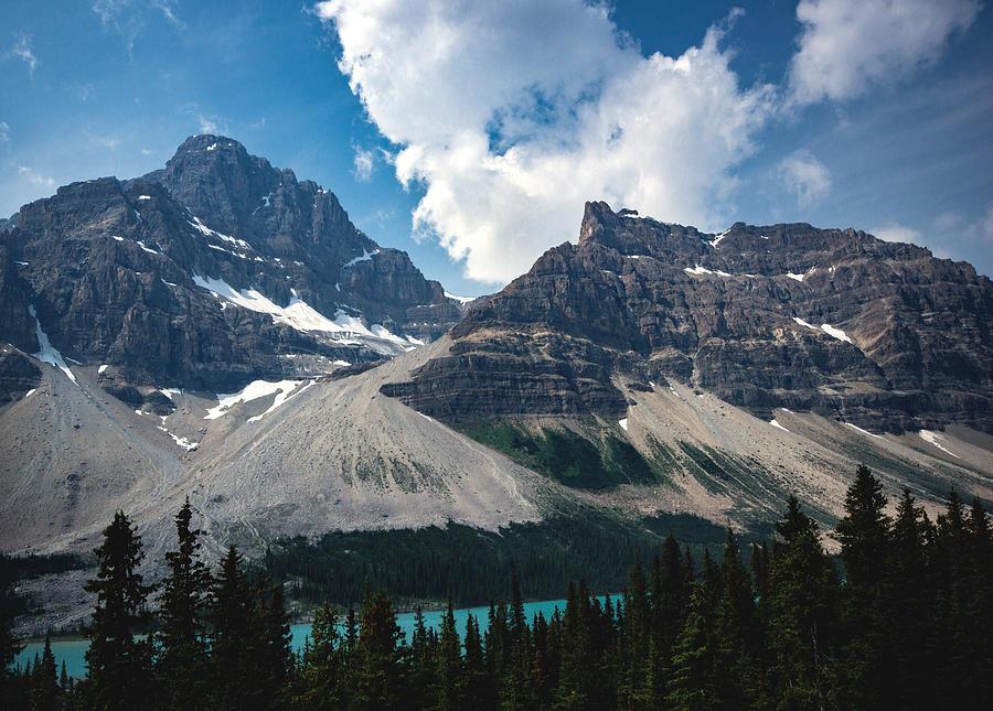 Landscape Photograph - Crowfoot Mountain by Cale Best