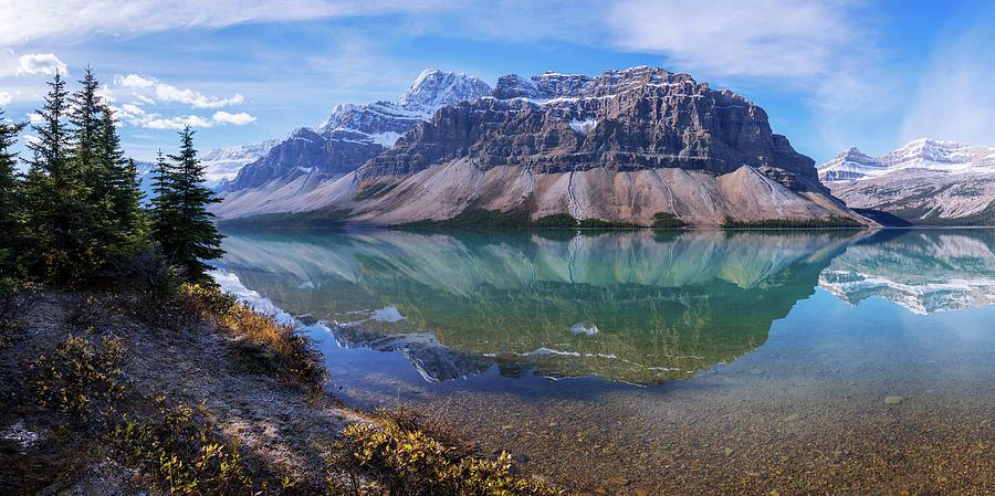Alberta Photograph - Crowfoot Reflection by Chad Dutson