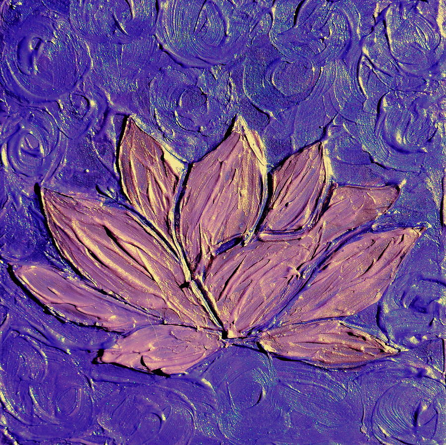 Crown chakra art purple lotus flower painting by chakra art abstract painting painting crown chakra art purple lotus flower by chakra art izmirmasajfo