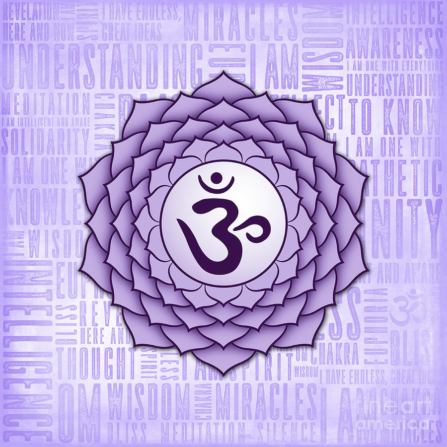 Crown Digital Art - Crown Chakra - Awareness by David Weingaertner