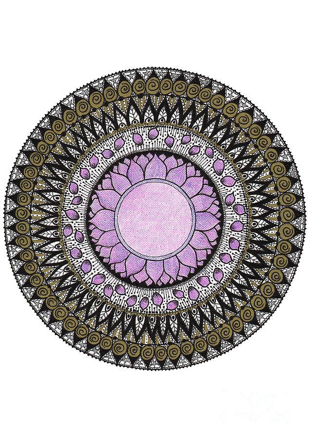 Crown Chakra Mandala Painting by Maria Forrester