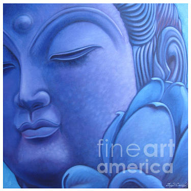 Quan Yin Painting - Crown Chakra Sold by Troy Carney