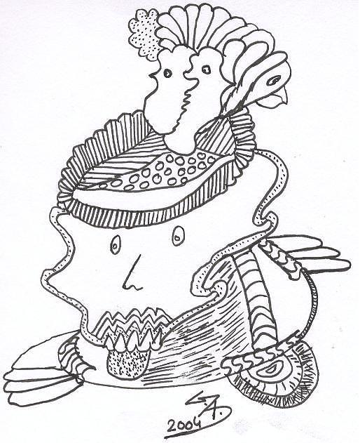 Drawing - Crown by Gaurav Agrawal