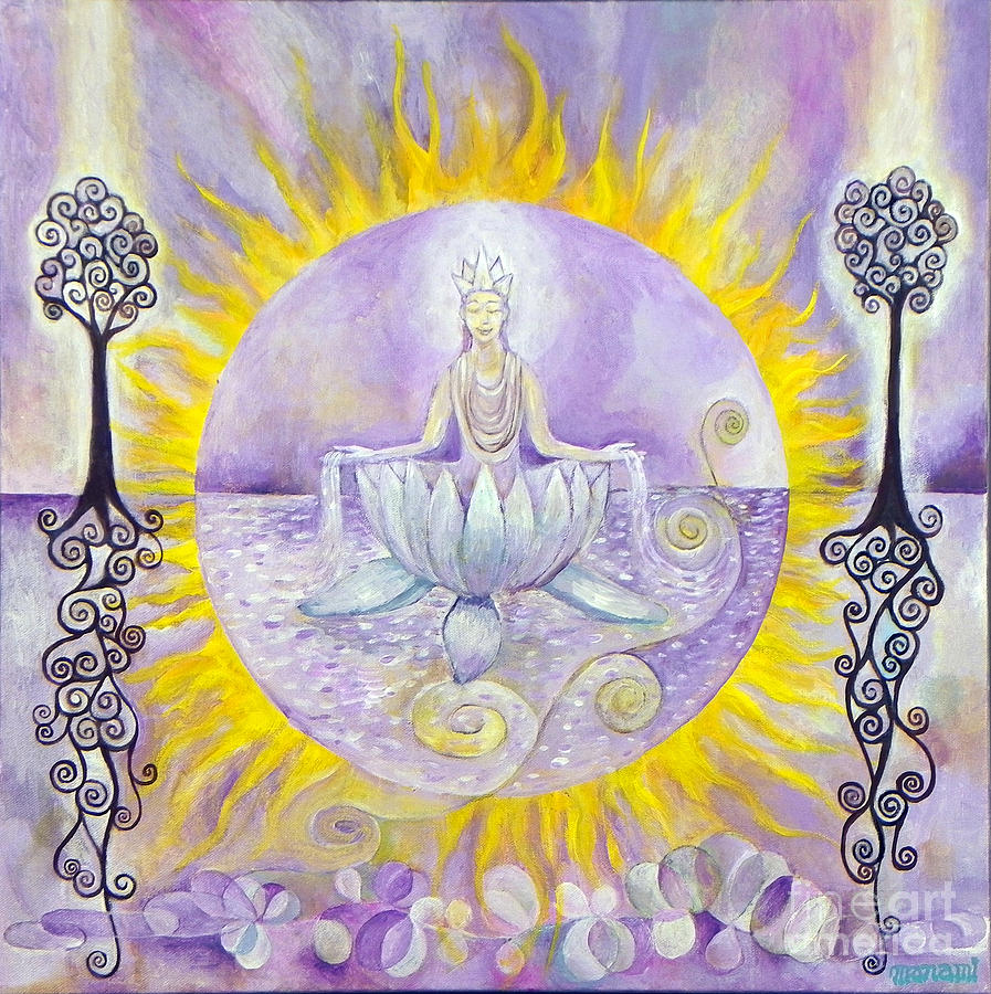 Crown: Sun; Lavender-white; Images Of Purity Painting - Crown by Manami Lingerfelt