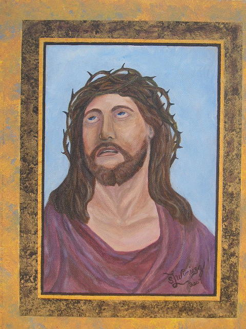 Jesus Painting - Crown Of Glory by Sandra Winiasz