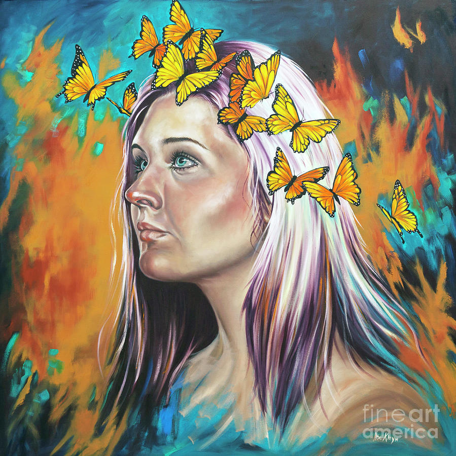 Portrait Painting - Crown Of Transformation by Ilse Kleyn