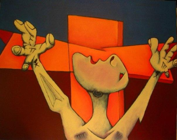 Crucificacao I Painting by Nicolau Campos