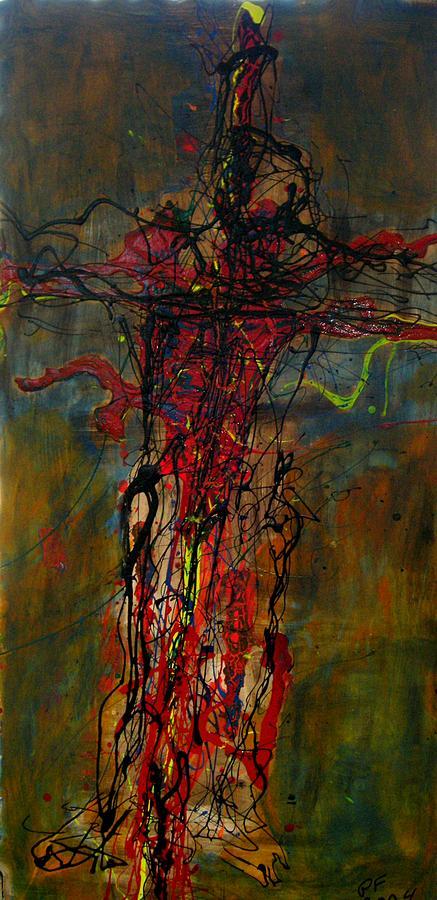 Cross Painting - Crucified by Paul Freidin