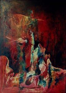 Expressionism Painting - Crucifix by Lyuba Zahova