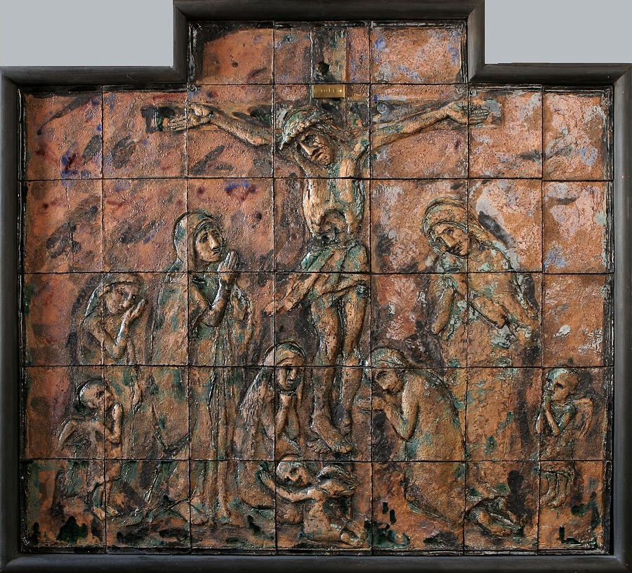 Crucifix Relief by Raimonda Jatkeviciute-Kasparaviciene