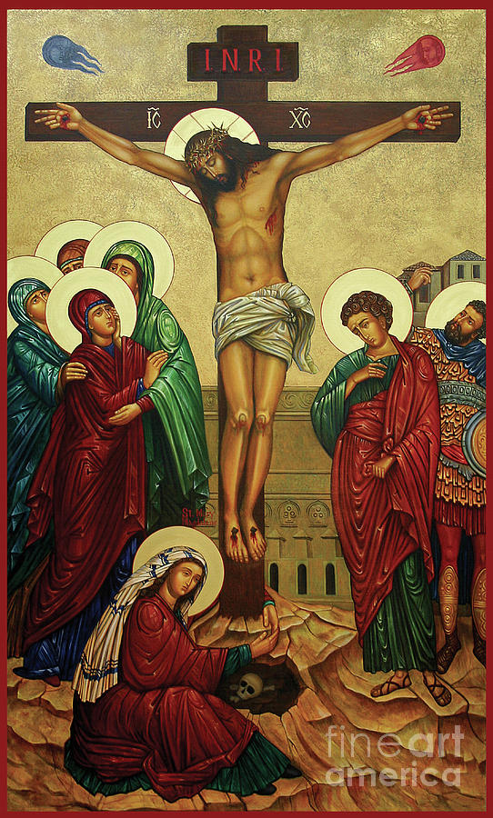 Crucifixion Painting - Crucifixion by Ann Chapin