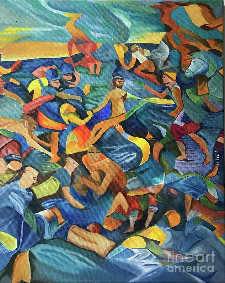 Cubism Painting - Crucifixion by Antonio De Irun