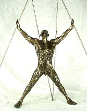 Nude Sculpture - Crucifixion by EmmA Sculptor