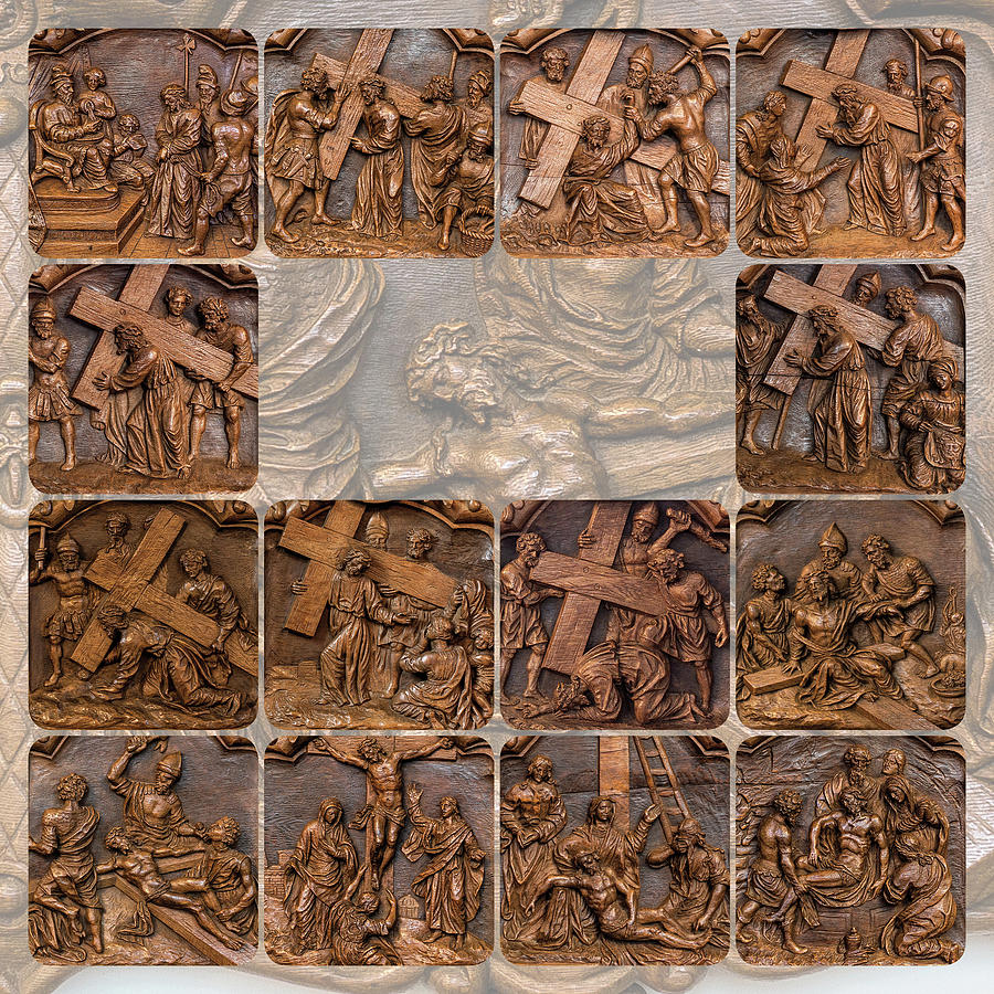 Crucifixion in wood by 2bhappy4ever