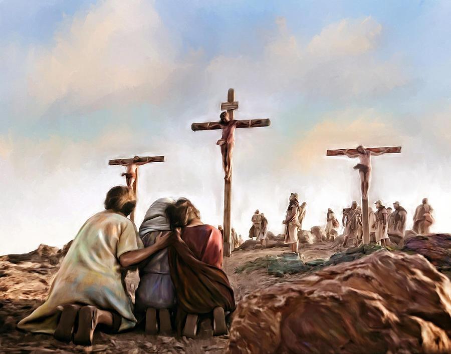 LE LIVRE D'HEURES DE LA REINE ANNE DE BRETAGNE (vers 1503) TRADUIT DU LATIN par M. L'ABBÉ DELAUNAY – Paris - 19 eme sièc Crucifixion-religion-jesus-christ-art-painting-andres-ramos