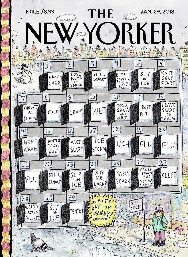 Cruellest Month Painting by Roz Chast