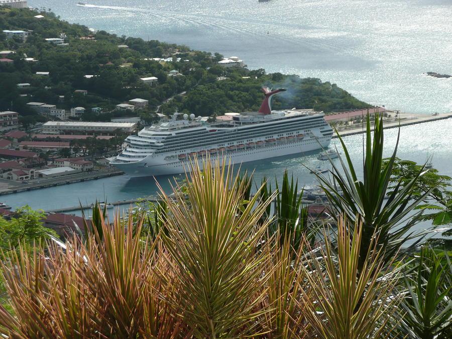 St Photograph - Cruise Ship 1 by Robert aka Bobby Ray Howle