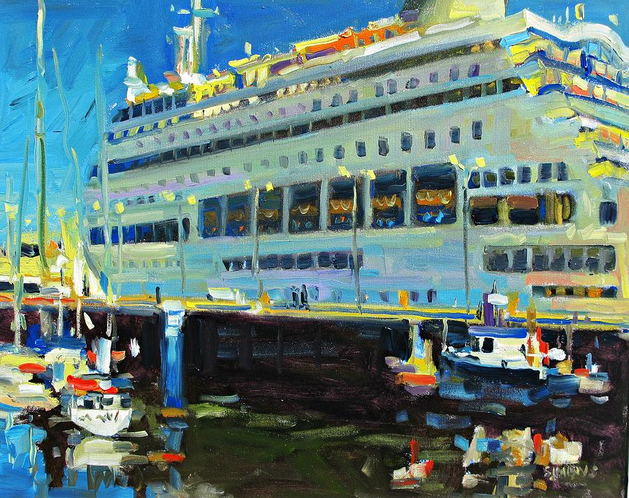 Paintings Painting - Cruise Ship by Brian Simons