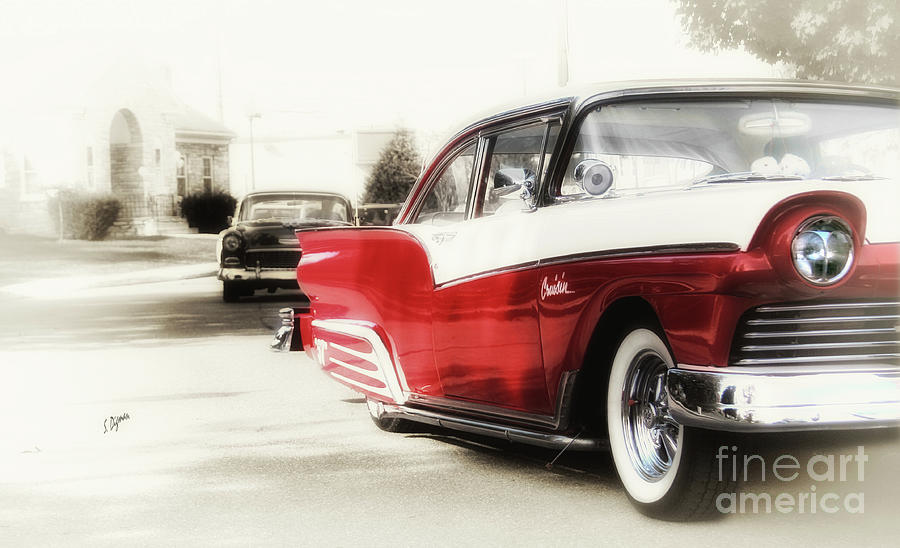 Cars Photograph - Cruisin in 57  by Steven Digman