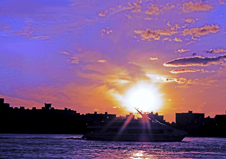 Boat Photograph - Cruising Down The Hudson by Kendall Eutemey