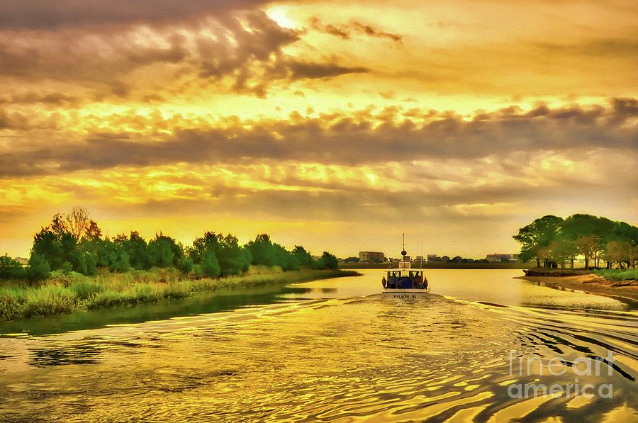 Cruising Out Of Murrells Inlet by Mel Steinhauer