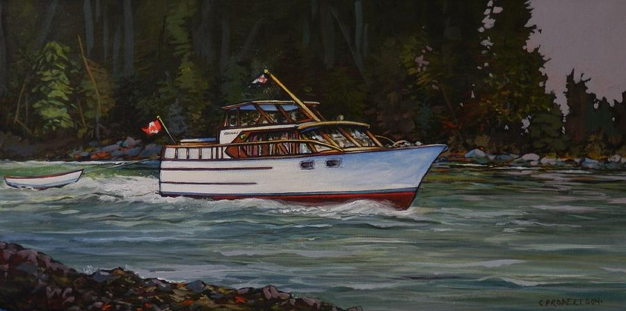 Cruising The British Columbia Gulf Islands, Canada                                       Painting by Catherine Robertson