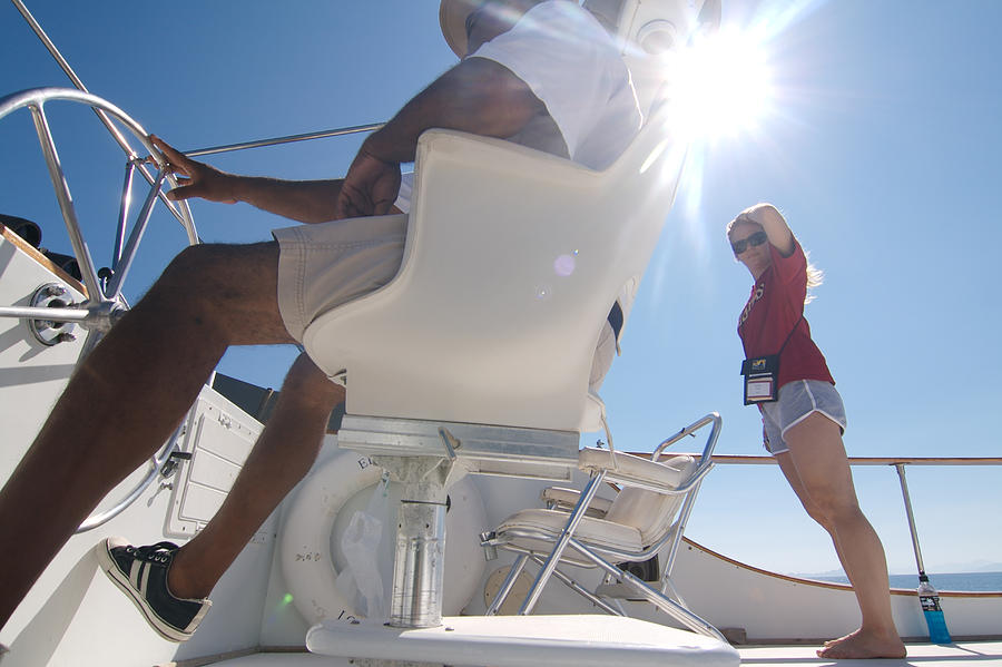 Sun Photograph - Cruising The Sea Of Cortez by Carl Purcell