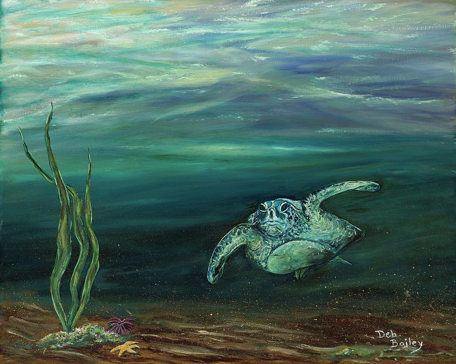Cruising turtle by Debra Bailey