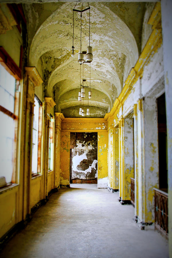 Architect Photograph - Crumbling Cathedral Corridor by Keith Rousseau