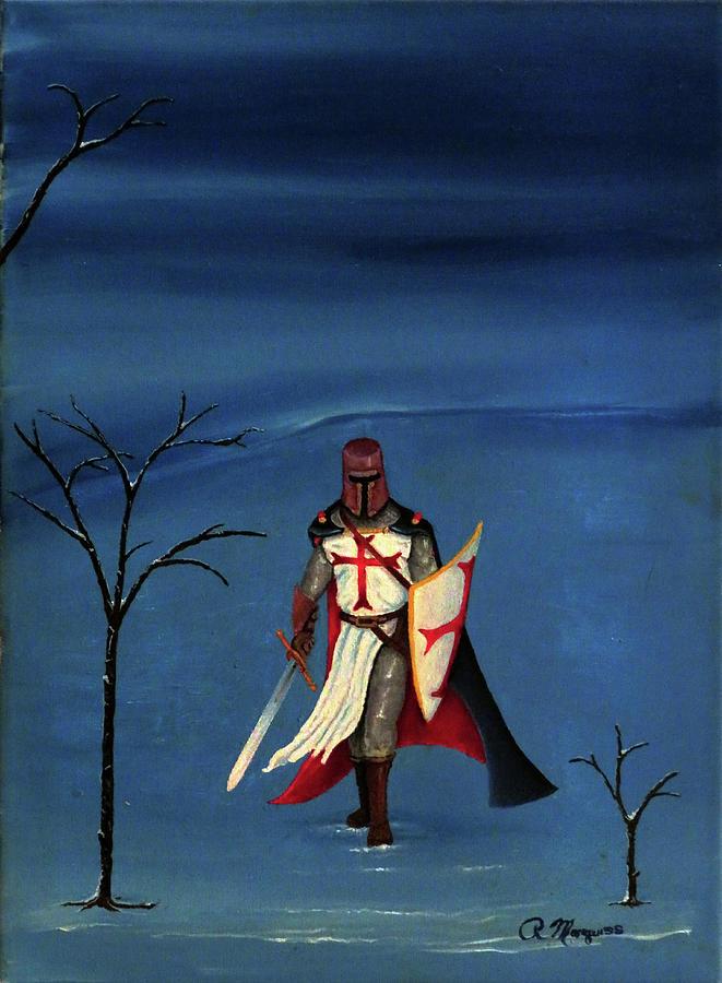 Crusader Painting - Crusader by Robert Marquiss