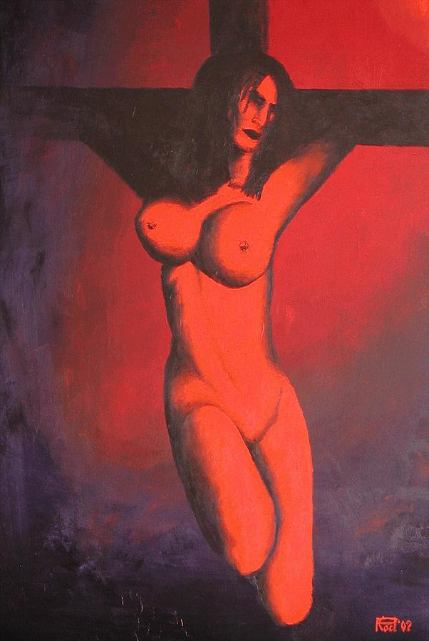 Nude Painting - Crux by Poul Costinsky