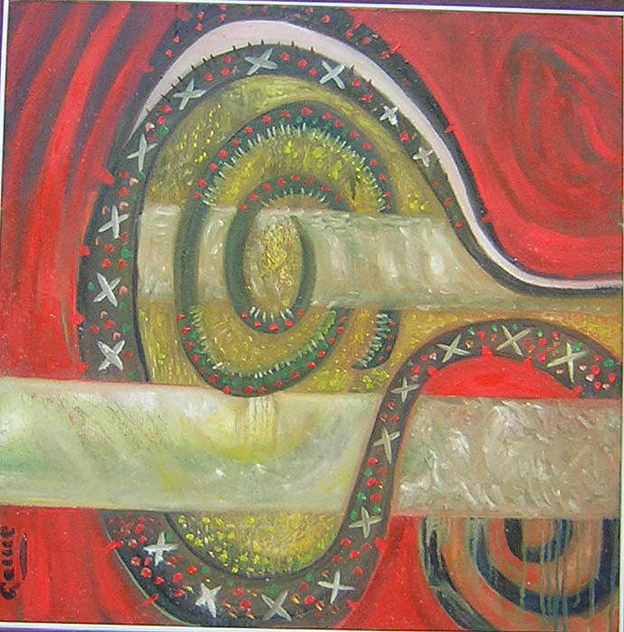 Cruzando Painting by Carmen Montoya Diaz del Olmo