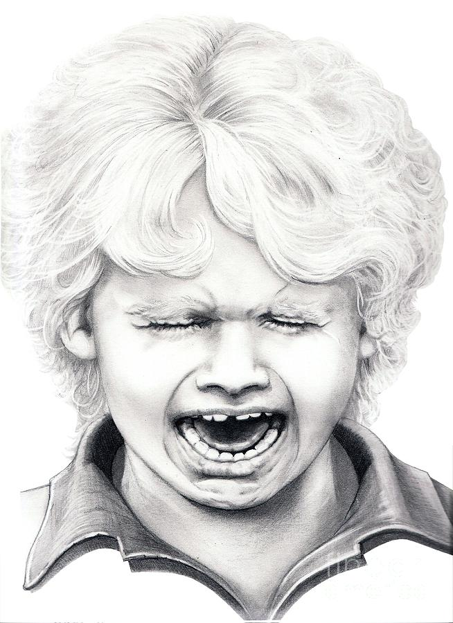 Drawing Drawing - Cry Baby by Murphy Elliott