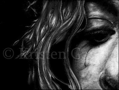 Crying Drawing - Cry by Kristen Gavula