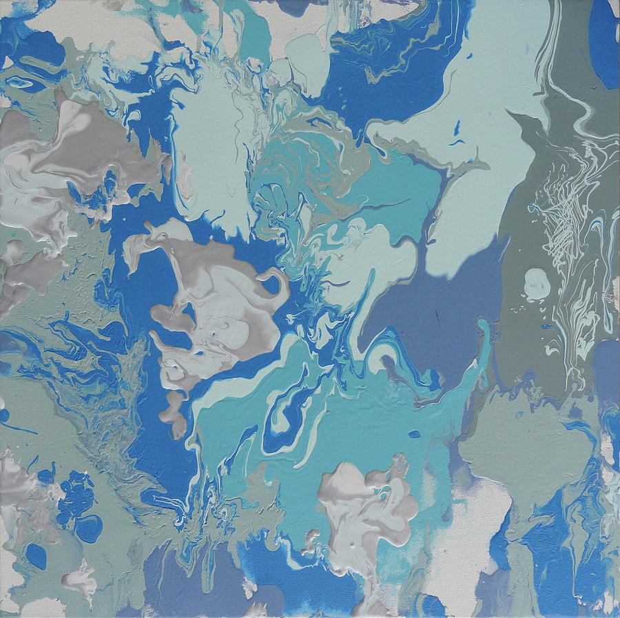 Abstract Painting - Cry Me A River by Nora Meyer