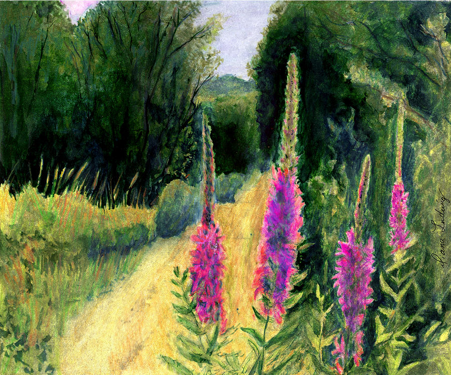 Loosestrife Painting - Crybaby Bridge On Egypt Road by Diana Ludwig
