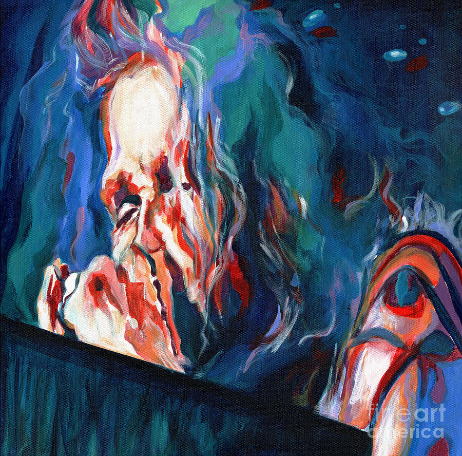 Contemporary Painting - Love Is Sweet Misery. Steven Tyler  by Tanya Filichkin