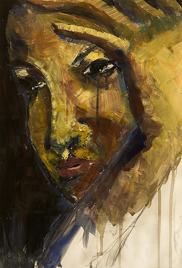 Crying Woman Painting