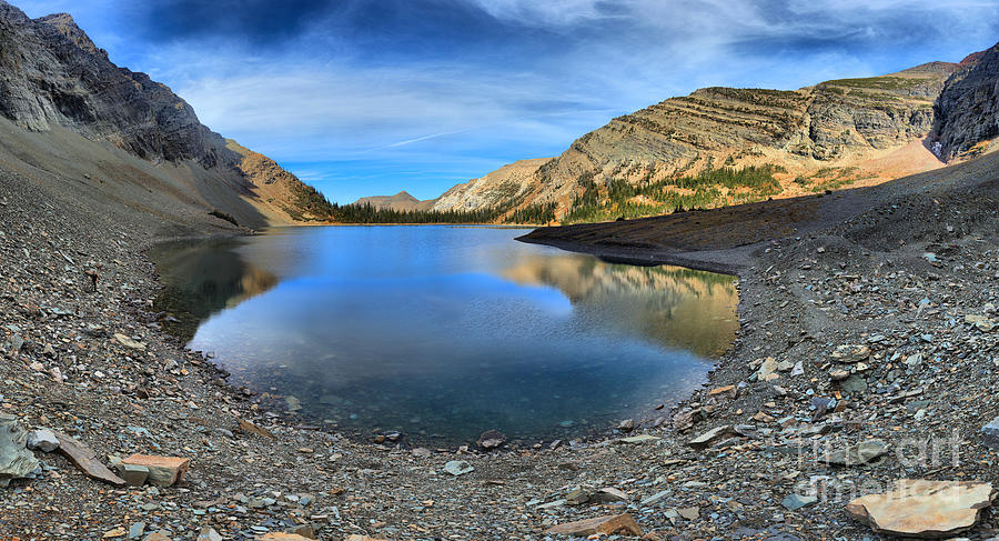 Crypt Lake Photograph - Crypt Lake Gold And Blue by Adam Jewell