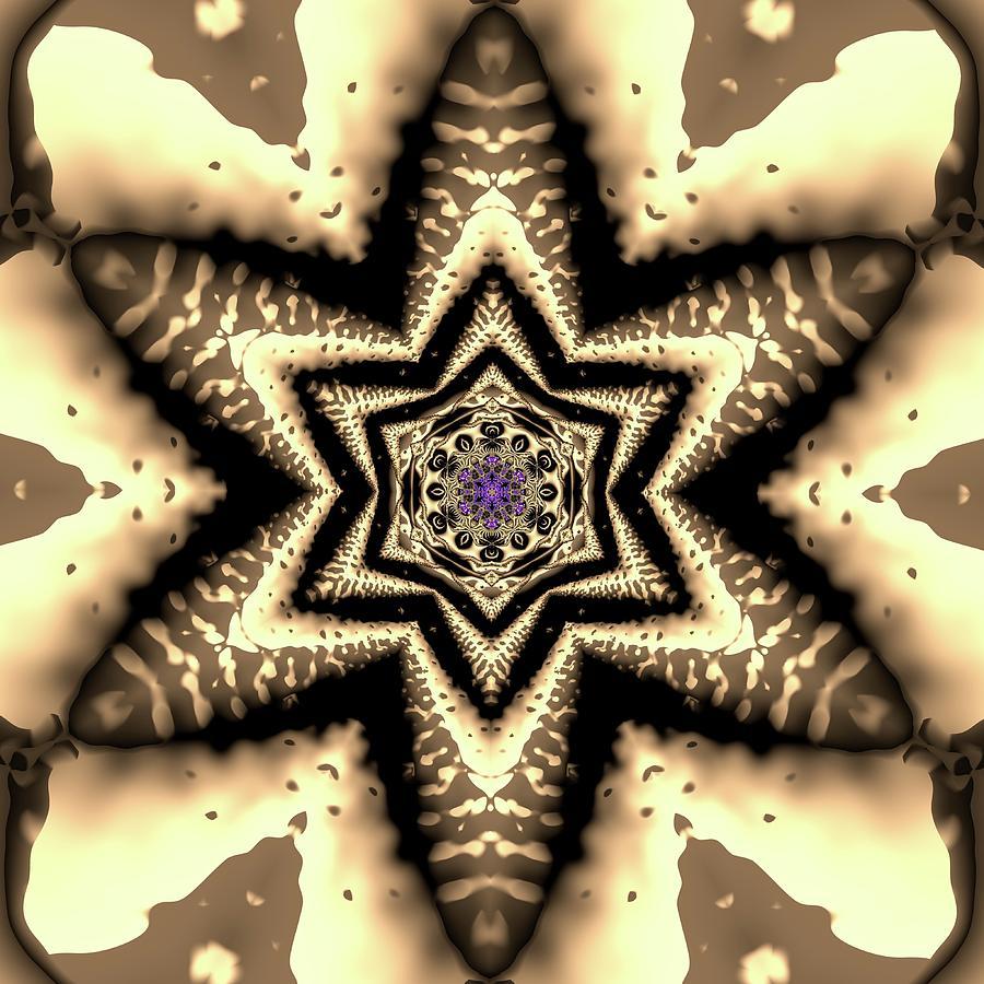 Mandala Digital Art - Crystal 6134 by Robert Thalmeier