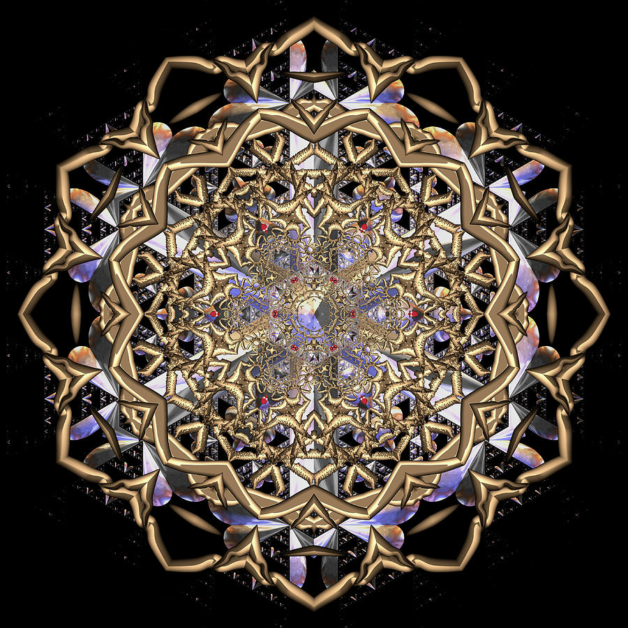 Mandala Digital Art - Crystal Ahau 2 by Robert Thalmeier