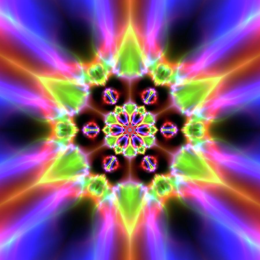 Light Digital Art - Crystal Ahau 657545456 by Robert Thalmeier