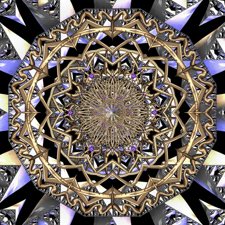 Mandala Digital Art - Crystal Ahau  by Robert Thalmeier