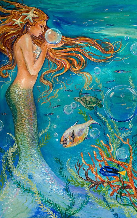 Crystal Ball Painting By Linda Olsen
