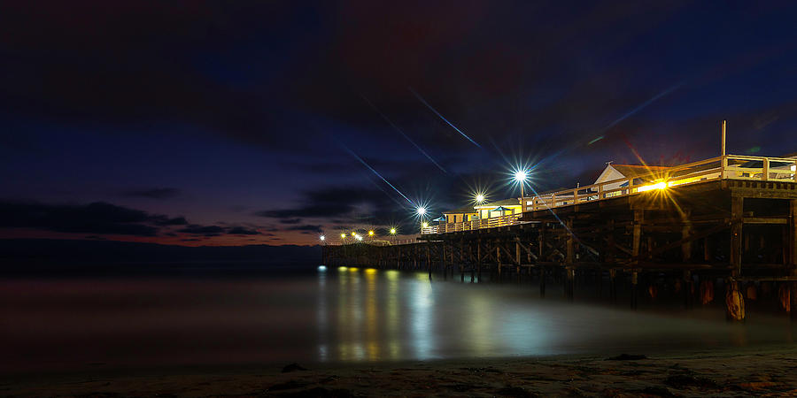 Crystal Beach Pier Blue Hour  by James Sage