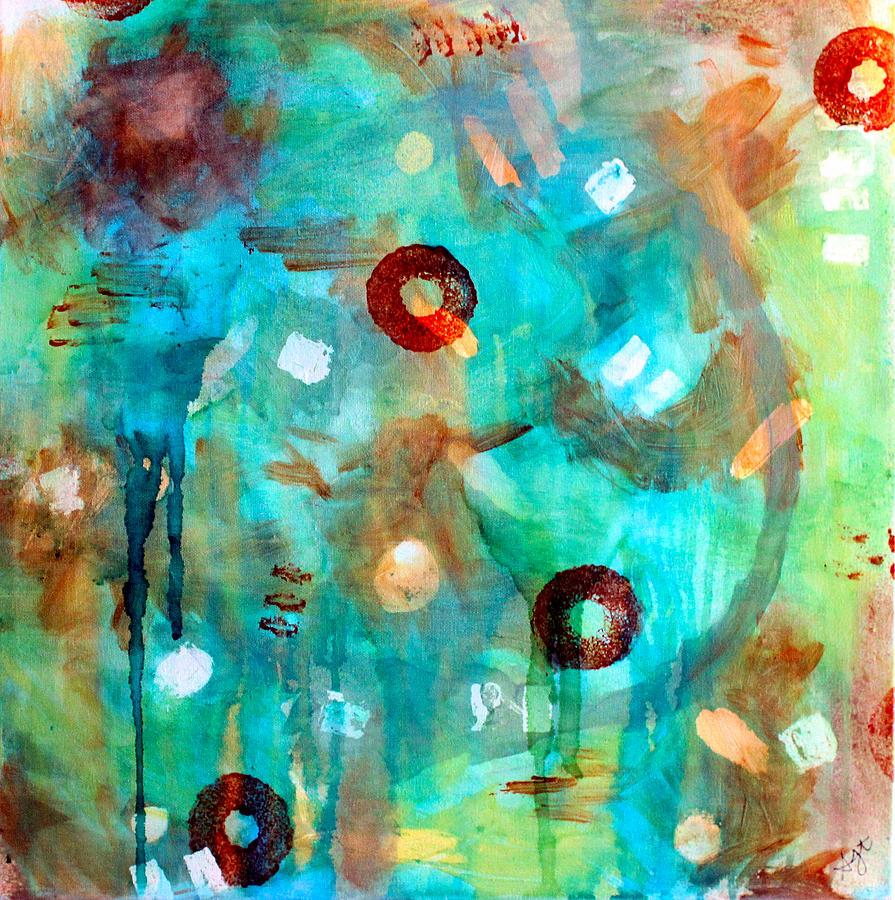 Orange Painting - Crystal Blue Persuasion by Shelley Graham Turner
