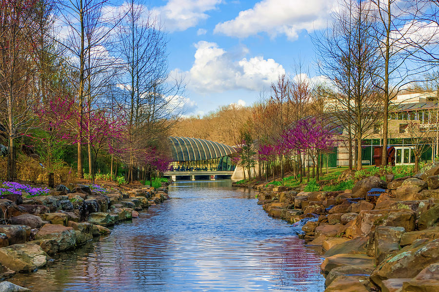 America Photograph - Crystal Bridges In Spring And Blue Skies by Gregory Ballos
