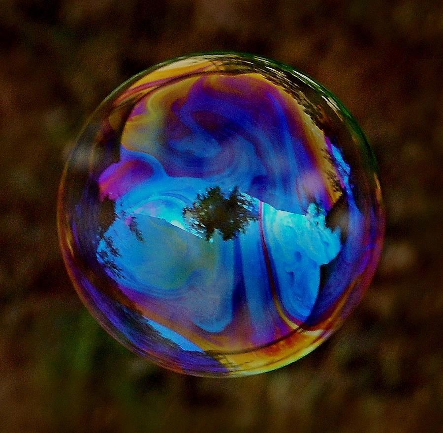 Bubble Photograph - Crystal Bubble by Marilynne Bull