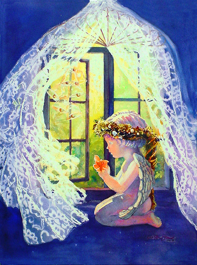 Watercolor Paintings Painting - Crystal Chimes by Estela Robles